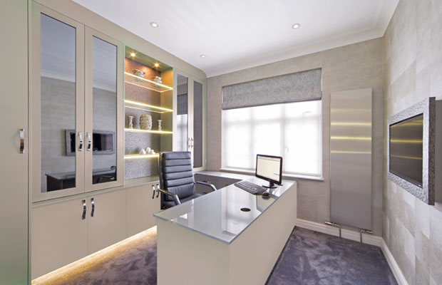 alabaster home office