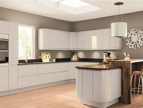 DIY Homefit Express Kitchen in Gloss Light Grey