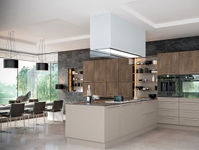 Kitchen in Valore Stone Grey & Grey Brown Metallo