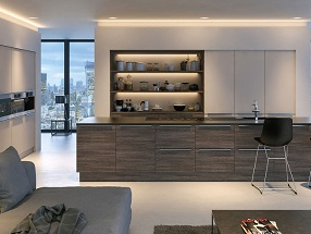 Kitchen in Valore Cashmere & Mali Wenge