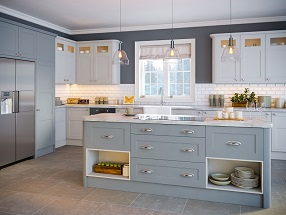 Aldridge Kitchen in Matt Denim