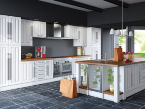 Milano Kitchen in Super White Ash
