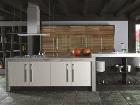 Acrylic Ultragloss Kitchen in Acrylic Noce Marino & Acrylic White