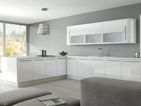 Acrylic Ultragloss Kitchen in Acrylic White