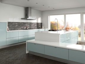 Acrylic Ultragloss Kitchen in Metallic Blue