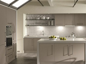 Acrylic Ultramatt Kitchen in Metallic Cashmere