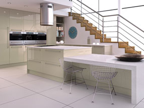 Acrylic Ultragloss Kitchen in Metallic Champagne